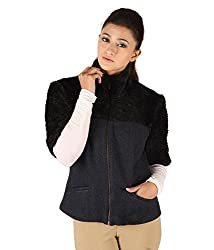 Owncraft Women's Woolen Jacket (Own_235_Navy_X-Small)