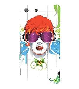 EPICCASE cool girl Mobile Back Case Cover For Sony Xperia M5 (Designer Case)
