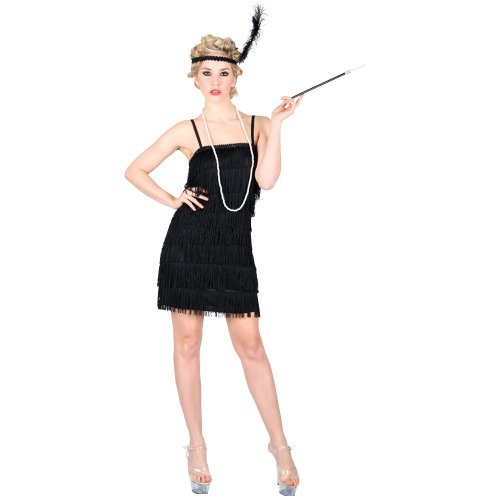 Fancy Dress Costume 20's Flapper Charleston Ladies 6-24