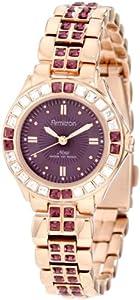 Unisex Armitron 753689VMRGWmns Gldtone Bracelet Purple crystals Purple dial
