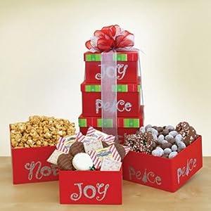 Joy, Peace, Noel Gourmet Gift Tower