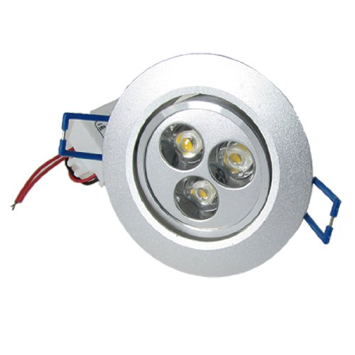 LED 16 Watt Round Recessed Glass Trim Decorative Panel Light Fitting 6400K