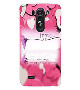 ColourCraft Love Design Back Case Cover for LG G3 BEAT