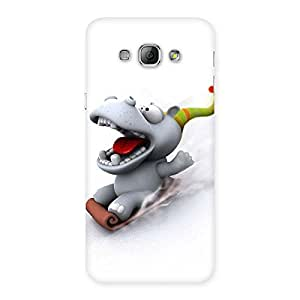 Ajay Enterprises Slide Dog Back Case Cover for Galaxy A8