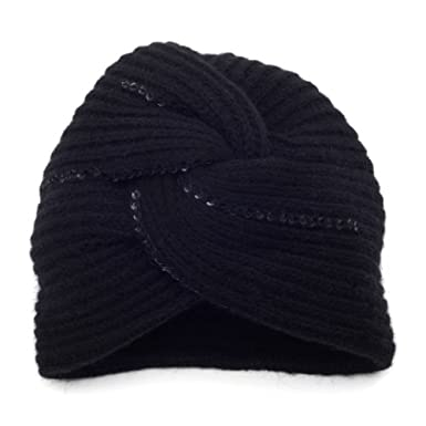 Black Wool Turban