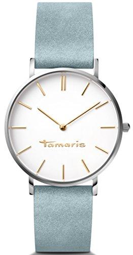 Tamaris - B01018010 - Montre Femme - Quartz - Analogique - Bracelet cuir Bleu