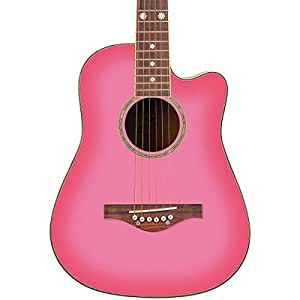 Daisy Rock Wildwood Short Scale Acoustic Guitar, Pink Burst available at Amazon for Rs.28459