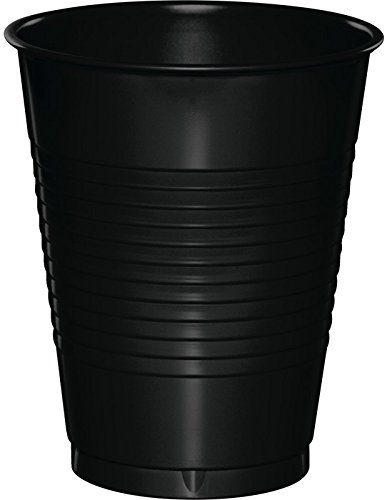 Creative Converting Value Pack Plastic Cups, Black Velvet, 50-Count