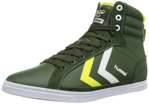Hummel Unisex - Adult HUMMEL GAME HIGH Low-Top Green Grün (KOMBU GREEN 6403) Size: 44