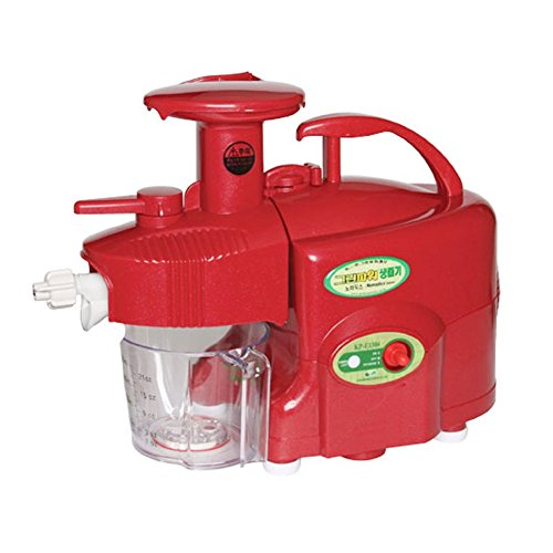 GREEN POWER KEMPO [KP-E1304] Nomadics Standard/Premium Twin Gear Slow Juicer Green Fruit Extractor Double Gear (Red) US Transformed Voltage + PDF English Manual for how to assemble this device (Green Power Twin Gear Juicer compare prices)