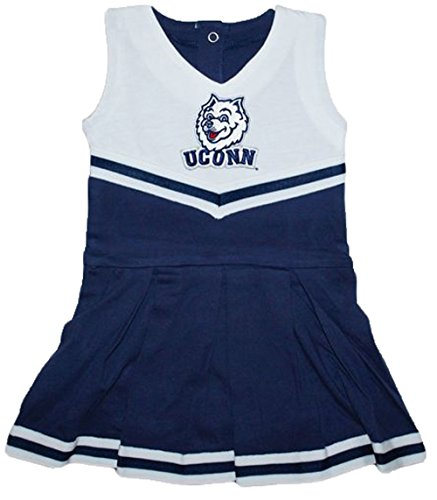 Uconn Connecticut Huskies NCAA Newborn Baby Cheerleader Bodysuit Dress
