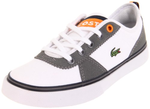 LACOSTE Kids' Hattori NDK Pre (White/Dark Grey 12.5 M)