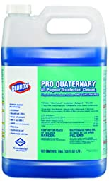 Clorox 30423 Pro Quaternary All Purpose Disinfecting Cleaner, 128 fl oz Bottle (Case of 2)