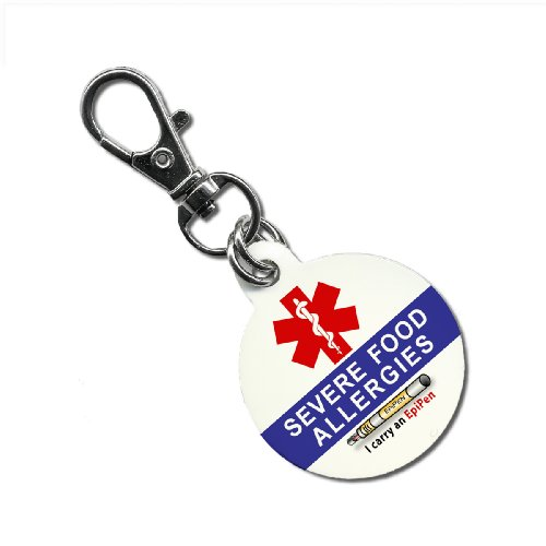 Buy SEVERE FOOD ALLERGIES I Carry an EpiPen Medical Alert 1.25 inch Aluminum Dog Tag