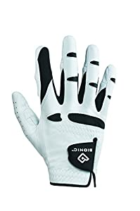 Bionic Stable Grip Golf Glove Natural Fit (Men's LEFT, White)