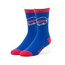 NFL Buffalo Bills '47 Bolt Sport Socks, Sonic Blue, Medium (Men's 5-8.5 / Women's 5-9.5), 1-Pack