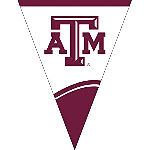 Creative Converting Plastic Flag Banner, Texas A & M University, Maroon/White from Creative Converting