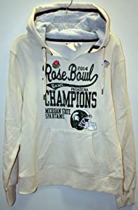 Michigan State Spartans NCAA 2014 Rose Bowl Champions Ladies Hoodie Off-White