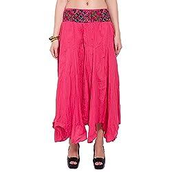 TUNTUK Women's Karma Skirt Coral Cotton Skirt
