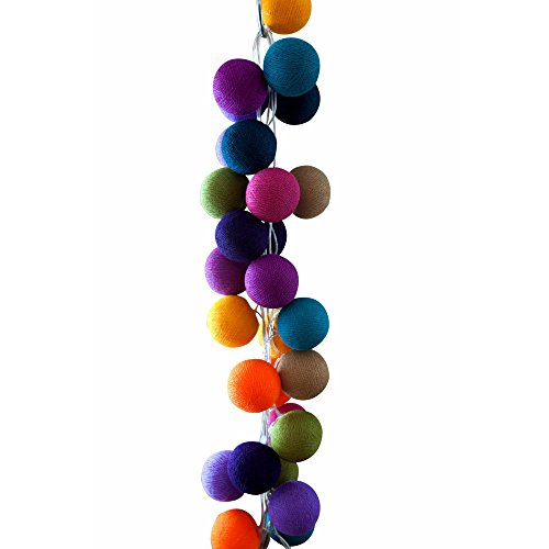 Cable & Cotton 35 Multicoloured String Lights - Mexican Colours