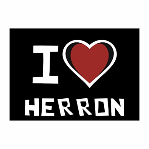 teeburon-i-love-herron-sticker-pacchetto-di-4