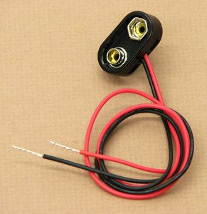 SEOH 9V Battery Lead with Electrical Wire 12in for Physics