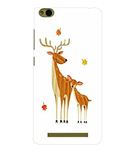 EPICCASE Deer Love Mobile Back Case Cover For Xiaomi 3S Prime (Designer Case)