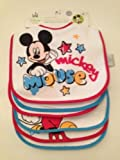 Disney Baby Bibs - Mickey Asst - 6 Pack