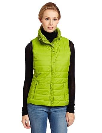 (超赞)Calvin Klein Performance Weight Vest CK 女式保暖背心 草绿色 $39.94