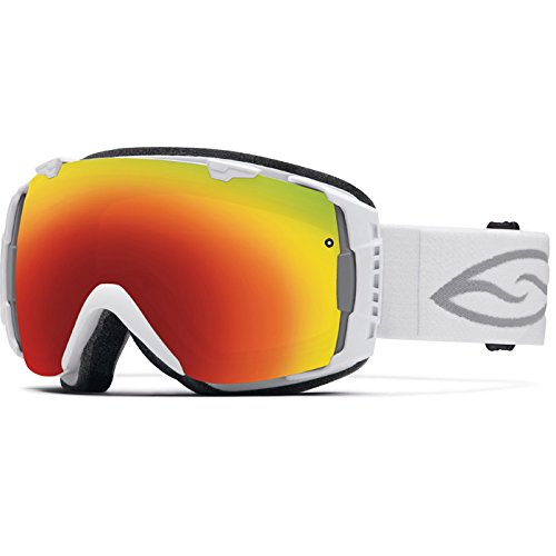 Smith I/O Snow Goggle – White Frame with Red Sol-X and Blue Sensor Lenses