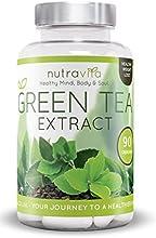 NutraVita Pure extrait de thé vert / Ultra puissant / Green Tea Extract - Complément alimentaire naturel stimulant la perte de poids - brûleur de graisse super puissant - 100% pure - végétarien - d'origine végétale - Ultra puissant - antioxidant - Supplément alimentaire d'aide à la perte de poids - Fabriqué en Grande Bretagne.