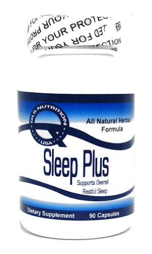 Sleep Plus ^ 90 Capsules - Supports Restful Sleep - Valerian Root,skullcap , Black Cohosh, Wood Betony, Lemon Balm, Lobelia - By GLS Nutriton