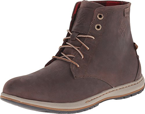 Columbia Men's Davenport Six FG Leather Casual Shoe, Cordovan/Grizzly, 9.5 D US