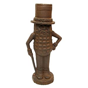 IWGAC 0170S-04738 Mr. Peanut Man Cast Iron Bank Large Rust
