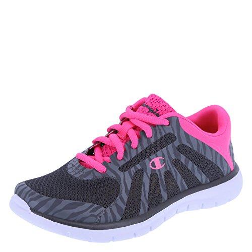 Champion Girls' Grey Pink Girls' Gusto Runner 2 Regular (Champion Kids Shoes compare prices)