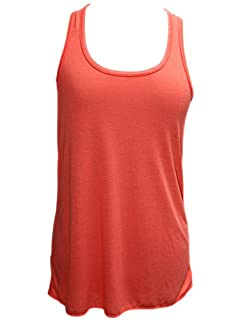 YogaColors Womens Emoticon Flowy Scoop Neck Tank Top (X-Large, Coral)
