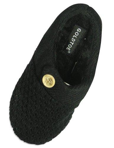 Cheap Goldtoe – Ladies Knit Slipper, Black 24468 (B004S2TW00)