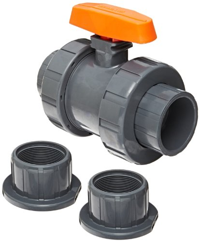 Hayward pvc ball valve two piece true union epdm seal