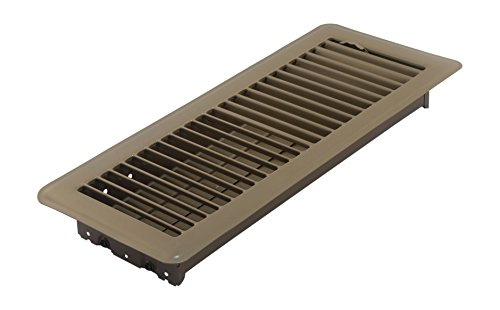 Accord ABFRBR412 Floor Register with Louvered Design, 4-Inch x 12-Inch(Duct Opening Measurements), Brown (Angled Floor Vents compare prices)