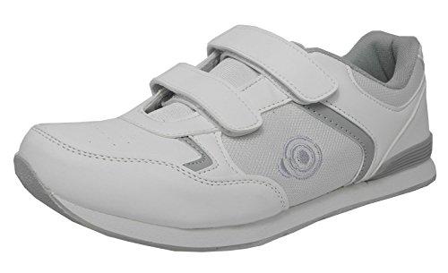 Flach, leichtgewichtig und Herren Bowling-Schuhe, Klettverschluss, Bowling-Schuhe, Weiß