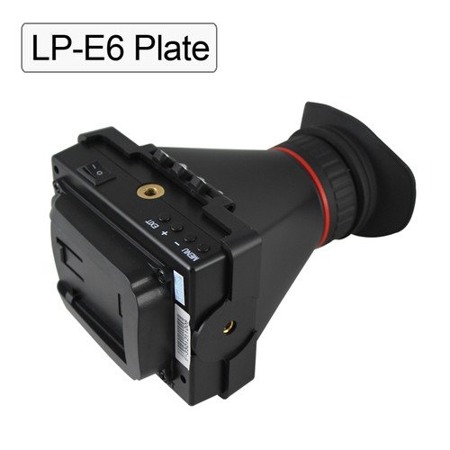 Evf 3.5'' Lcd Screen Electronic Viewfinder For Canon Camera Video Hdmi Lp-E6 Plate