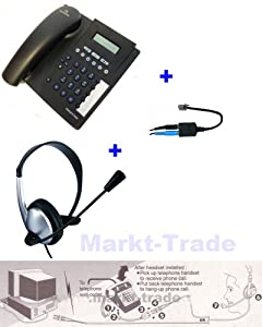 telefon mit headset telefonheadset mit western klinke. Black Bedroom Furniture Sets. Home Design Ideas