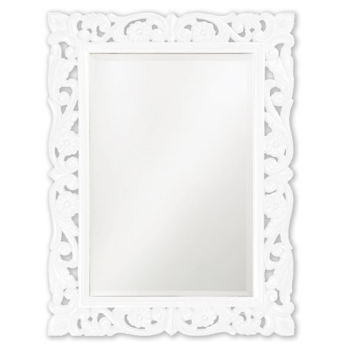 White Vanity With Mirror front-38205