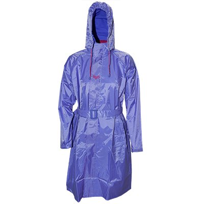 Prrem's Womens Monsoon Long Hooded Mauve Rain Trench Coat Jacket in Size M