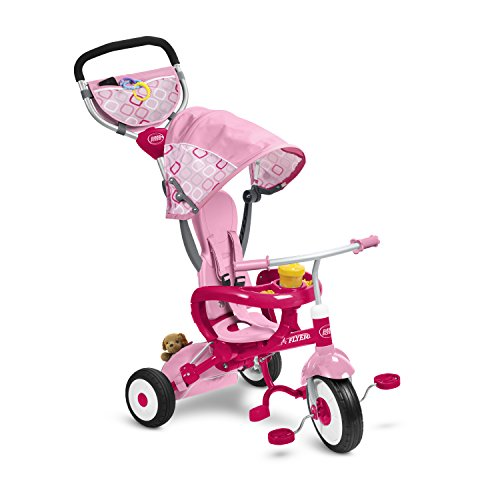 Radio Flyer EZ Fold Stroll 'N Trike Ride On, Pink (Radio Flyer Pink 4 In 1 Trike compare prices)