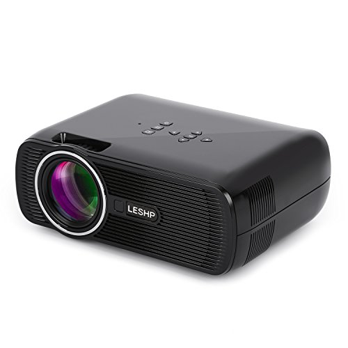 Mini-ProjectorLESHP-1080P-HD-3D-Projector-with-50-Inch-LCD-TFT-Display-1300-ANSI-Lumens-Mini-Portable-Multi-Media-for-Home-Cinema-Theater-TV-Laptop-Game-SD-iPad-iPhone-Android-SmartphoneBlack