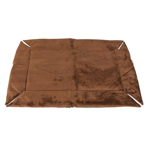 K & H Washable, Cozy Soft, Self Warming Dog Crate Pad - Large / Mocha front-856794