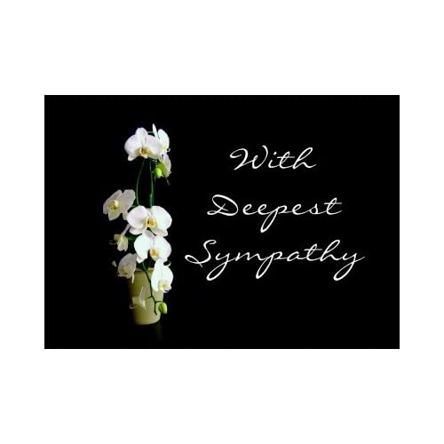 Deepest Sympathy White Orchids Greeting Card: Health