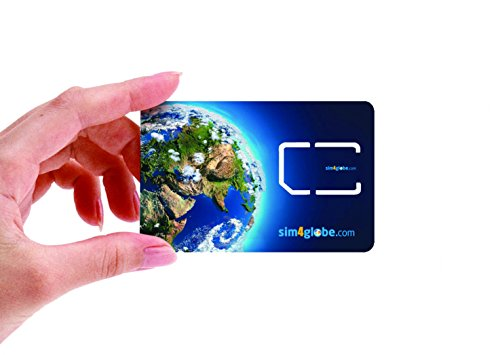 Sim4Globe Prepaid International SIM Card for Global Over 190 Countries - Compatible with All GSM Unlocked Phones (3-in-one micro, nano, Standard SIM) with $8 credit (Att Sim Card Number compare prices)