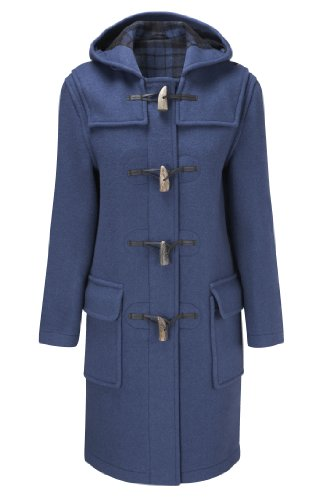 Womens Long Duffle Coats -- Royal Blue -- Size 44